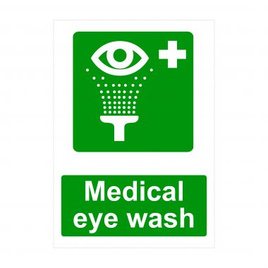 Medical Eye Wash Sign, Printed Correx Boards