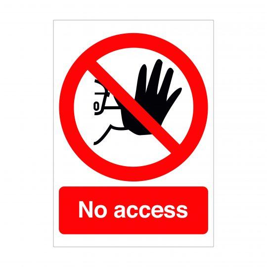 No Access Sign, Covid-19 Health and Safety Signs, Corona Virus Signage