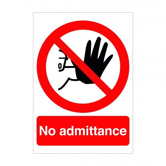 No Admittance Sign, Covid-19 Signage, Corona Virus Signage