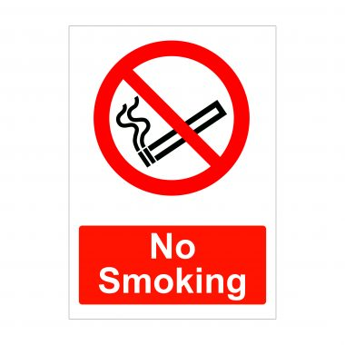 No Smoking Sign, Health and Safety Signs, Vinyl Stickers