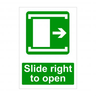 Slide Right Sign, Printed Correx Boards