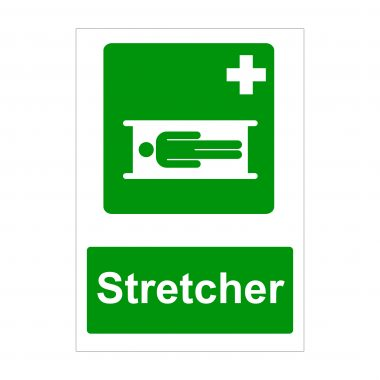 Stretcher Sign, Printed Correx Boards, Health and Safety Signs