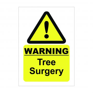 Warning Tree Surgery Sign