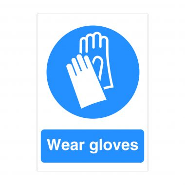 Wear Gloves Sign, Corona Virus Signs, Covid-19 Signage