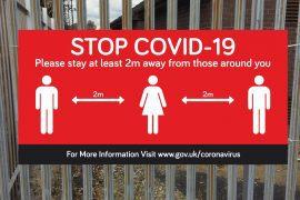 Covid 19 PVC Banner