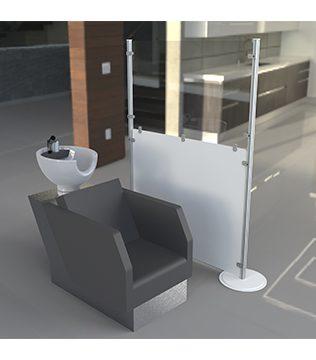 Floor-Stand Protective Office Screen GJ Plastics