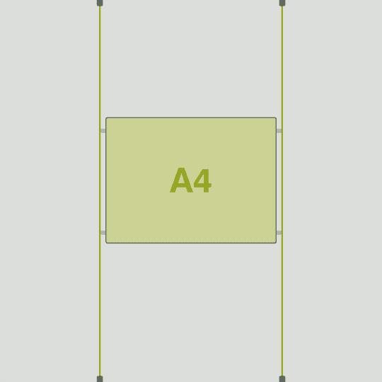 1 x A4 Landscape LED Light Pocket Kit