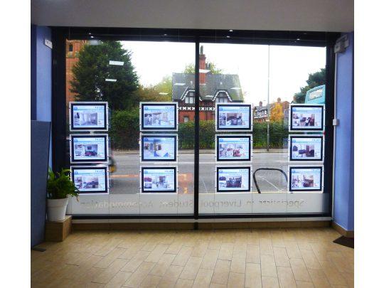 Estate agent window displays