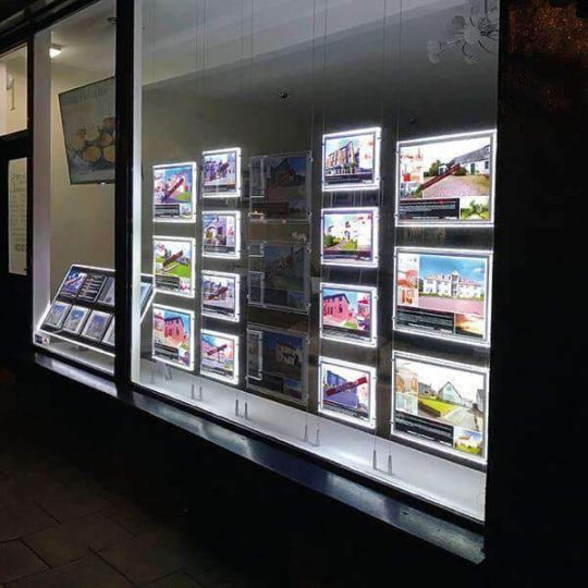 LED window displays