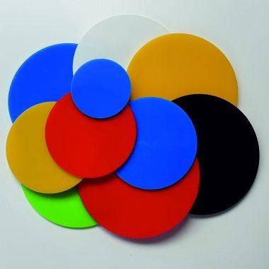Colour Perspex Circles, Acrylic Discs