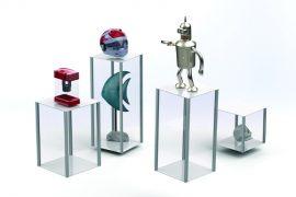 square Display Pedestals 50cm
