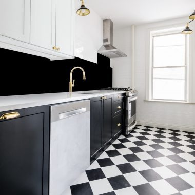 Black Kitchen Splash Back, Perspex Tiles