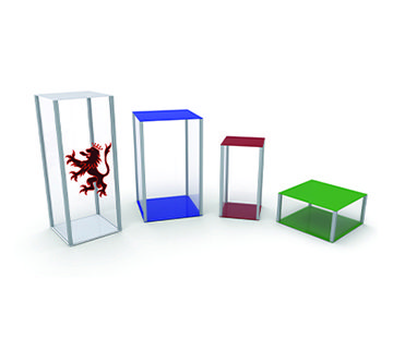 Coloured Retail Pedestal GJ Plastics