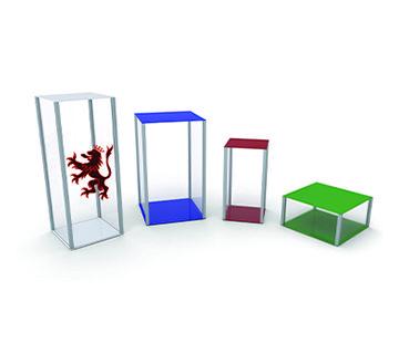 Coloured Retail Pedestal GJ Plastics