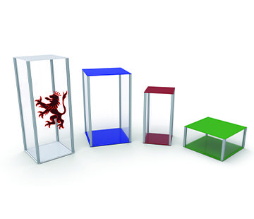Retail Plinths with optional printed graphics