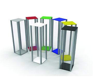 Retail Plinths in Acrylic