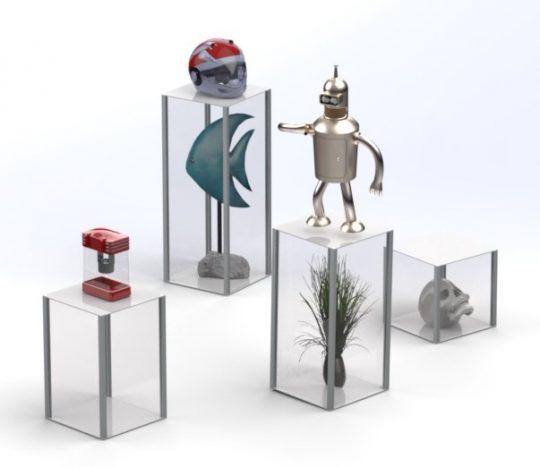 40cm Retail Display plinths